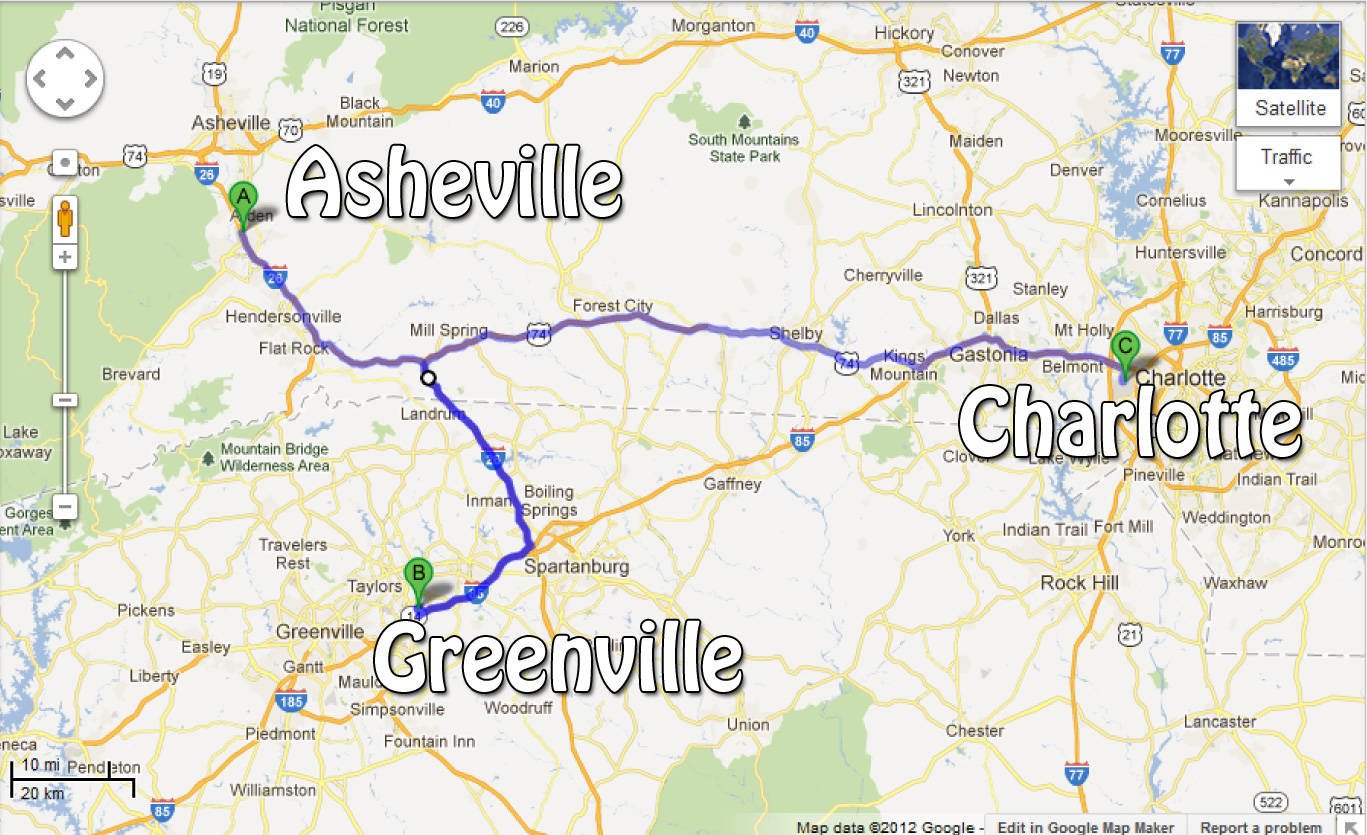 Asheville to Greenville